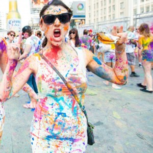 Corona #LiveMasFina paint party at Dundas Square