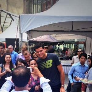Milos Raonic draws crowds to Commerce Court