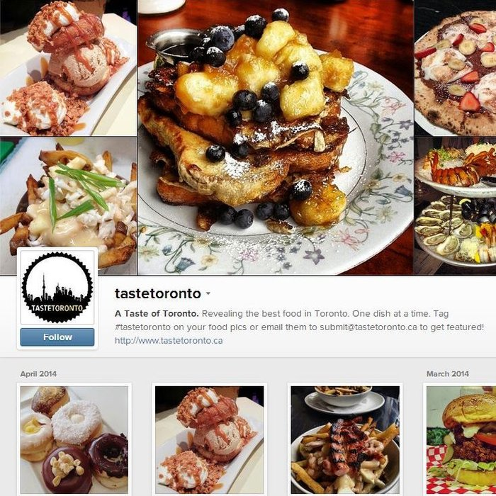 Taste Toronto Instagram