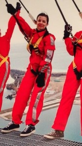 EdgeWalk with Toronto's Billy Bishop Airport in the distance.