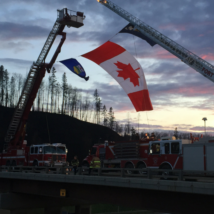 Fort McMurray firefighters welcome residents