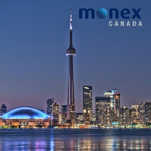 Toronto skyline with Monex logo