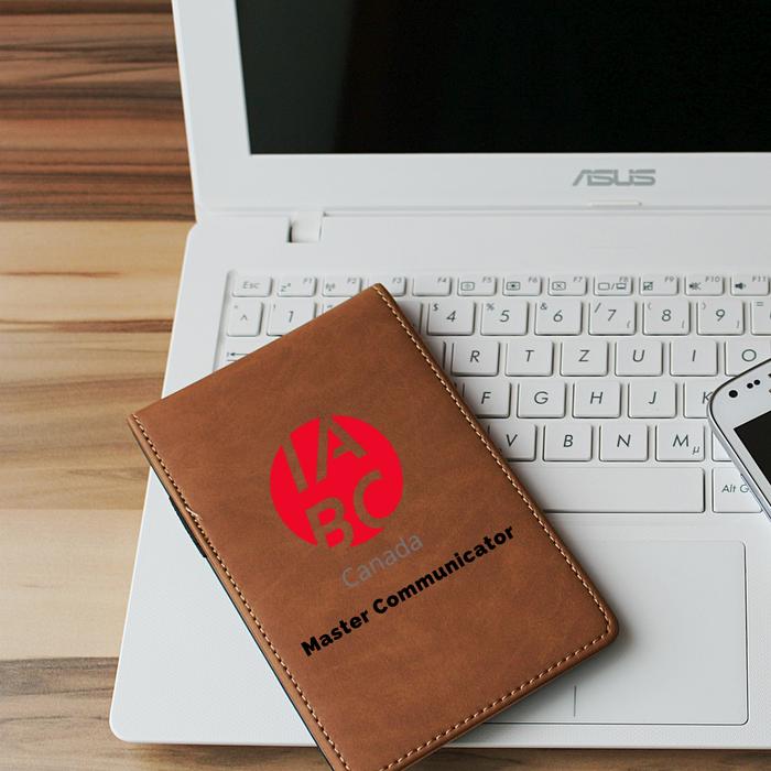 IABC notebook on an ASUS laptop