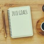 2018 Goals written in notebook