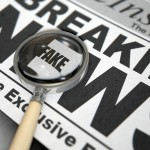 Magnifying glass - fake news