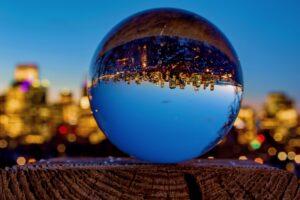 City Nights Through Lensball